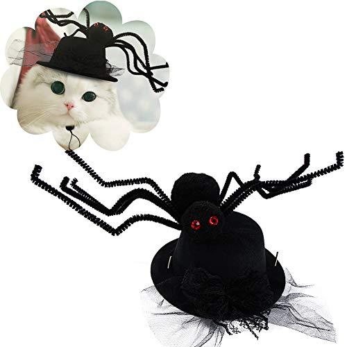 DELIFUR sombrero de araña para Halloween para mascotas, con...