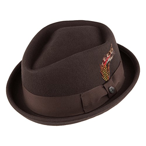 Jaxon & James Chapeau Pork Pie Diamond Crown déformable Marron Large