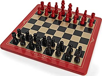 FAO Schwarz Wood Chess Checkers and Tic-Tac-Toe Set Classic Strategy Games Ages 6 and up