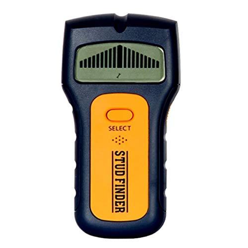 JIUY Tamaño portátil 3 en 1 multifuncional Stud Centro Buscador de CA Detector Live Wire pared de madera escáner Herramientas Multi metal (Negro y naranja)