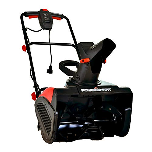 PowerSmart Snow Blower, Electric Single Stage Snow Blower 18-INCH Remove Width, 15 AMP Electric Snow Blower, 120V 60HZ CordeElectric Single Stage Snow Blower, DB5017
