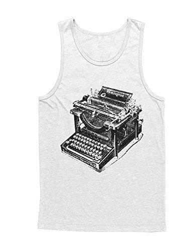 Hypeshirt Tank-Top Remington Typewriter H112233 Bianco S