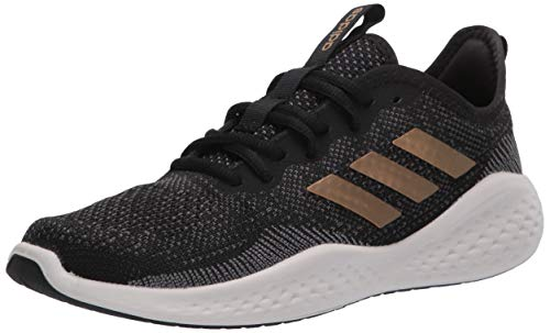 adidas Women's Fluidflow Running Shoe, core Black/Tactile Gold Met./Grey Six, 6.5 M US