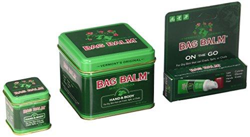 Bag Balm Bundle (8 Ounces, 1 Ounces Tins and On-The-go Tube)