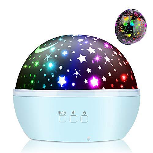 Projektor Lampe, Vivibel Nachtlicht Sternenhimmel Projektor & Ozean Projektor 360° Rotierend Projektionslampe LED Nachttischlampe für Kinder, Geburtstag, Partys