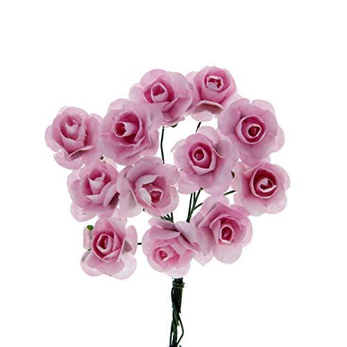 STEFANAZZI 144 Pezzi Piccole Rose di Carta Artificiali per bomboniere Matrimonio cresima Comunione Battesimo Compleanno Decorazioni per sacchettini e scatoline