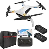 GPS Drone with 4K HD Camera 2-Axis Gimbal, JJRC X7P 5G WiFi RC Quadcopter with Follow me, Smart Return Home, 1.2km Far Control Range, 50Mins Flight Time with 2 Batteries(25Mins + 25Mins)