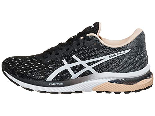 ASICS Women's Gel-Cumulus 22 MK Running Shoes, 7M, Black/White