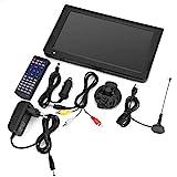 Socobeta Televisores de TV analógicos portátiles de TV Digital con resolución DVB-T-T2 1024x600 TV portátil de 10 Pulgadas para Dormitorio Cocina Coche(Enchufe de la UE)