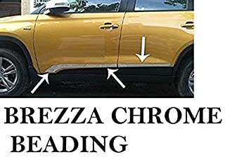 SDR Chrome SideDoor Beading Hockey Style for Maruti Suzuki Vitara Breeza