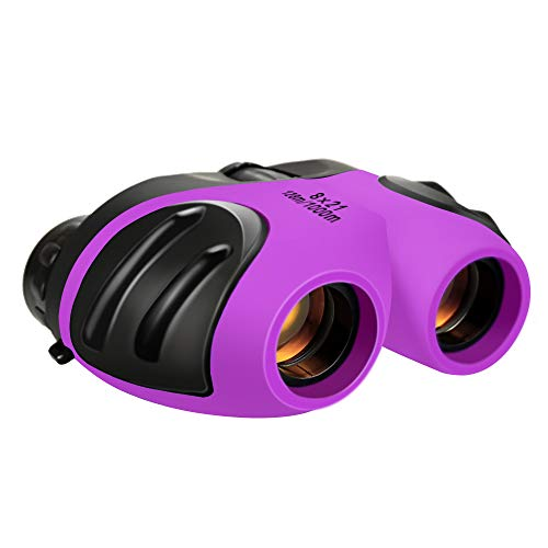 Dreamingbox Gifts for Girl Age 3-12, Compact Binocular for Kids Explorer Toys for 3-12 Year Old Boys 2020 New Outside Toys for 3-12 Year Old Boys Stocking Fillers Purple TGUS006