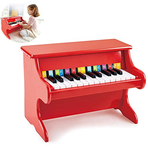 Fantastic Deal! HBIAO Kids 25-Key Wooden Learn-to-Play Mini Piano Early Education Melody Playing Ins...