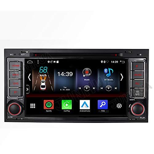 Junhua Android 10 32GB Carplay Android Auto 2 Tuner Autoradio DVD GPS Navigation für VW T5 Transporter Multivan unterstützt DAB DSP Bluetooth 5.0 WiFi 4G USB OBD SWC