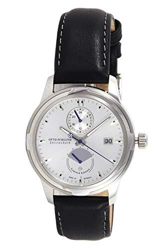 OTTO SCHLUND Zeittechnik Herren-Armbanduhr TRAVITA Analog Automatik 01843 (Silber/Silber)