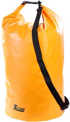 Xcase wasserdichte Tasche: Wasserdichter Packsack 70 Liter, orange (Seesack LKW-Plane)