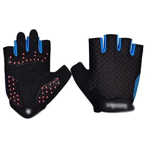 Respirable Ciclismo Guantes medio dedo guantes de deporte que compite con guantes de la bicicleta de la bici de los hombres de verano bicicleta de carretera antideslizantes guantes al aire libre que m