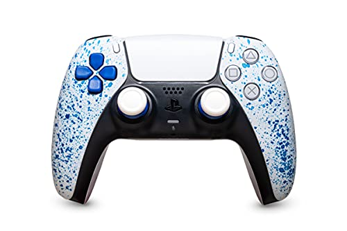 KING CONTROLLER PS5 Curved Custom Design Blue Bloody - DualShock 5 - PlayStation 5 - Wireless PS5-Controller