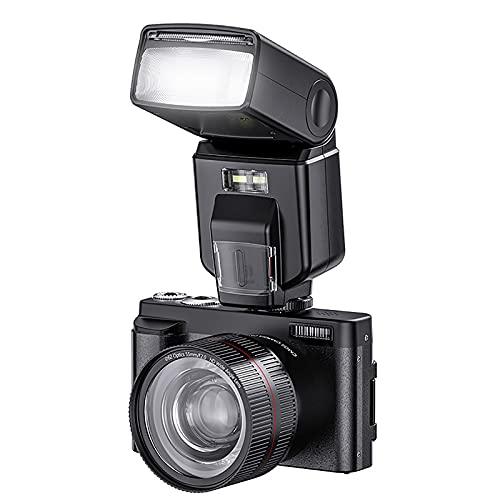 RSGK Cámara Digital 4K HD, Zoom Digital 16X, 44 Millones De Píxeles, Pantalla IPS Pantalla Táctil De 3.0 Pulgadas, con Lente Ultra Gran Angular, HD 1080P, Adecuado para Niños, Adultos, Principiantes