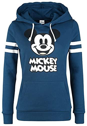 Micky & Minnie Stripes Mujer Sudadera con Capucha Azul S