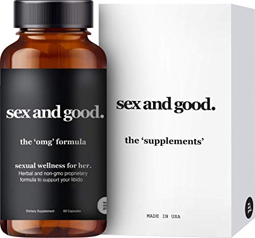 Sex and Good: The OMG Formula - Herbal Supplements with Saw Palmetto & Maca Root - 60 Capsules - Supports Women's Drive and Activates Hormones - Plant-Based and Non-GMO - Made in USA