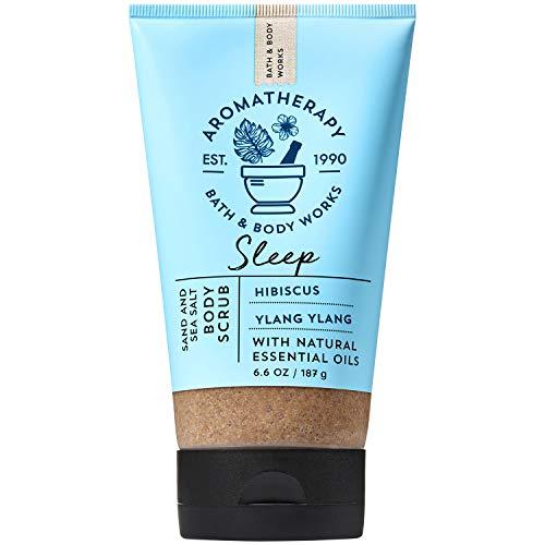 Bath and Body Works Aromatherapy Sleep Hibiscus Ylang Ylang Sand Sea Salt Body Scrub 6.6 Ounce