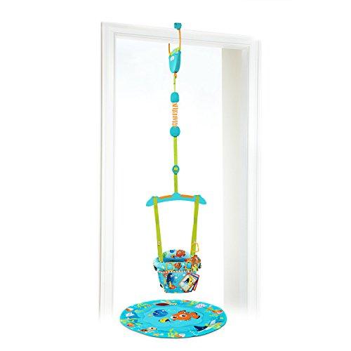 Disney Baby, Findet Nemo Türhopser mit 3 Spielzeugen, Stützkissen, stabiler Türrahmenklammer, gepolstertem und maschinenwaschbarem Sitz, verstellbarem Gurt und mehr