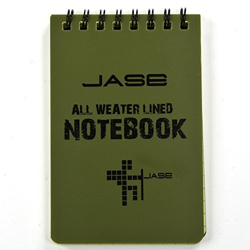 Cosmos Set of 6 Green Waterproof/all Weather/shower/aqua Notes/notepad/notebook