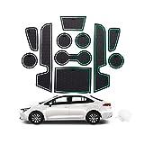 CDEFG para Toyota Corolla 2019 2020 Coche Accesorios Antideslizante Copa Mats Anti Slip Puerta Ranura de Acceso Kit de la Estera del cojín de la Ranura decoración de Interiores (Blanco)