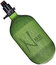 Ninja Paintball Compressed HPA Air Tank w/Ultralite Regulator (ALL COLORS/SIZES) (68/4500 Carbon, Ultralite Reg, Translucent Lime, 68ci)