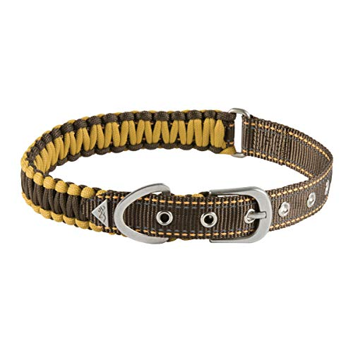 Browning Survival Cord Dog Collar Tactical Dog Collar, Survival Cord, Teak, Large