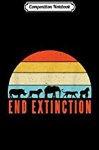 Composition Notebook: End Extinction Endangered Rhino Lion Elephant Tiger Gorilla  Journal/Notebook Blank Lined Ruled 6x9 100 Pages