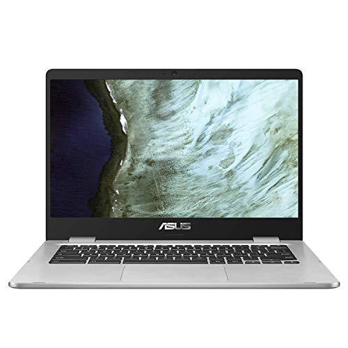 """Asus Chromebook C423NA-EC0103 Chromebook 14"""" Argent (Intel Pentium, 4 Go de RAM, EMMC 64 Go) Clavier AZERTY Français"""