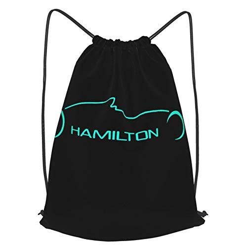 Crazy Caa Le-Wis Hamilt-On Mens Gym Unisex Drawstring Backpack Sports Bag Rope Bag Big Bag Drawstring Tote Bag Gym Backpack