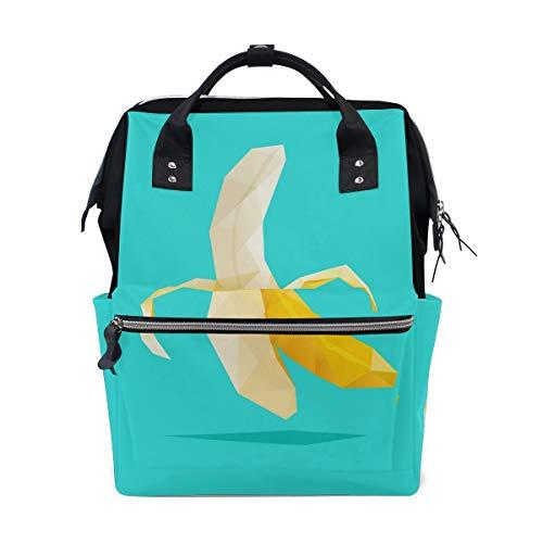 Alinlo mignon Banana Sac à langer Diaper Sac à dos avec sangles de poussette multifonction Grande capacité momie Sac fourre-tout Sacs pour voyage Baby Care