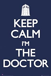 Doctor Who - TV Show Poster (Keep Calm I'm The Doctor) (Size: 24 inches x 36 inches)