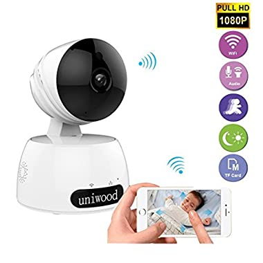 uniwood WiFi Baby Monitor Camera, 1080P HD Surveillance Cams with High Motion Detection, Two Way Talk Indoor Pet Camera Monitorning System Viewer
