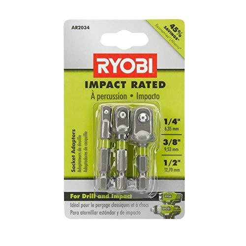 RYOBI AR2034 Impact Rated Socket Adaptor Set (3-Piece)