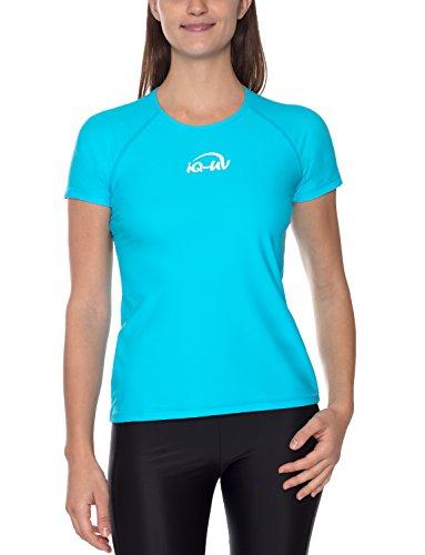 iQ-UV Damen 300 Regular Geschnitten, Uv-Schutz T-Shirt,Türkis,L (42)