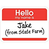 3 PCs Stickers Jake from State Farm, Jake State Farm Hello Jake from State Farm Sticker for Laptop, Phone, Cars, Vinyl Funny Stickers Decal for Laptops, Guitar, Fridge
