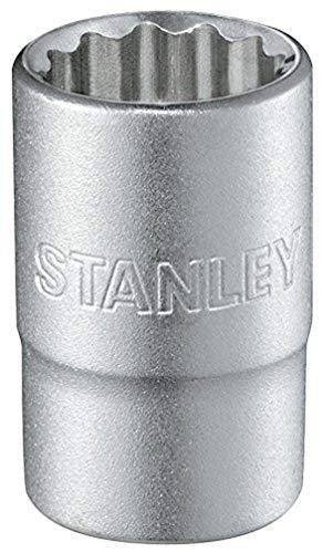 Stanley Steckschlüssel 12-Kant (1/2 Zoll, 8 mm, 38 mm Länge, metrisch, Chrom-Vanadium Stahl, Maxi-Drive Profil) 1-17-051