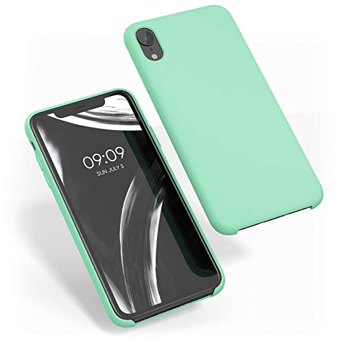 kwmobile Funda Compatible con Apple iPhone XR - Carcasa de TPU para móvil - Cover Trasero en Verde Menta