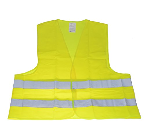 Warnweste Unfallweste Neon Gelb Sicherheitswarnweste KFZ nach DIN EN ISO 20471