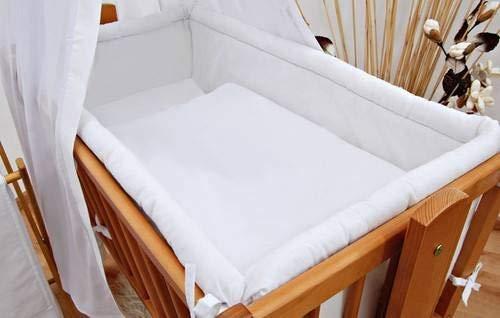 Baby Comfort Bettumrandung für Babybett, 260 cm lang, für Babybettchen á 90 x 40 cm, gepolstert, groß, Weiß
