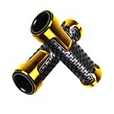 Motorcycle Non Slip Handlebar Grips 7/8' 22mm Rubber Handle Grips For KAWASAKI Z250 Z400 Z650 Z750 Z800 Z900 Z1000 (Gold)