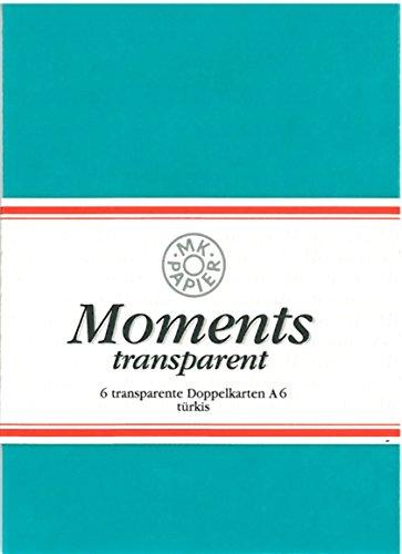 Brunnen 6 transparente Doppelkarten türkis A6, Serie Moments von MK Papier 10-5148856