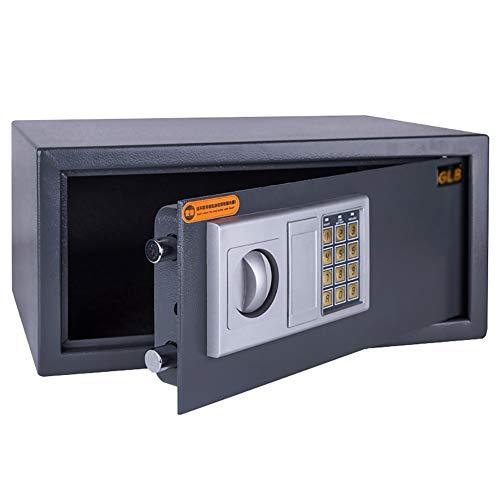 Caja fuerte YXX Caja de Seguridad Digital para automóvil, Hotel, Oficina en el hogar - Grandes Cajas Fuertes con Llaves para Laptop, Documentos y Dinero - Negro