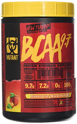 MUTANT BCAA 9.7 Supplement BCAA Powder with Micronized Amino Acid and Electrolyte Support Stack, 1044g (2.30 lb) - Peach Iced Tea