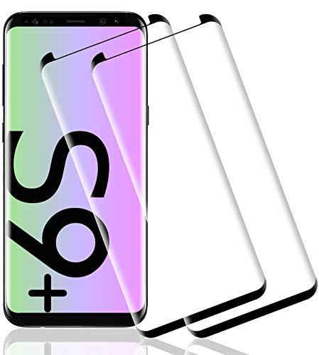 Wiestoung Protector de Pantalla de Vidrio Templado para Samsung Galaxy S9 Plus   S9 +, [2 Piezas] Cubierta 3D Completa con Protector de Vidrio antirrayaduras, dureza 9H Protector de Vidrio