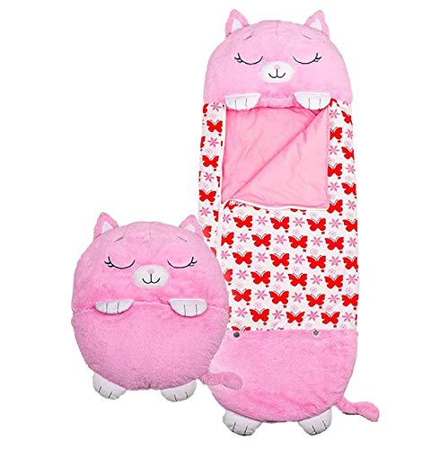 "Children's Sleeping Bag Pillow & Sleepy Sack- Comfy, Cozy, Compact, Super Soft, Warm, All Season, Fun Sleeping Bag with Pillow for Kids - Medium 54"" x 20"" (Rose)"