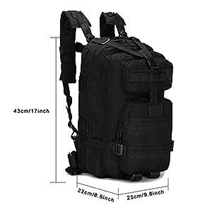 41sCGHRq8tL. SS300  - SHANNA Macutos de Senderismo,Mochila de Trekking, Mochila Militar 25L MOLLE Paquete de Asalto Mochila de Combate táctico…